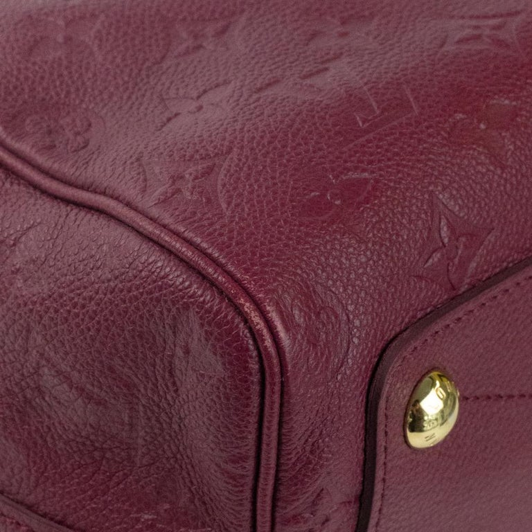 Louis Vuitton, Speedy 25 in burgundy leather For Sale 5