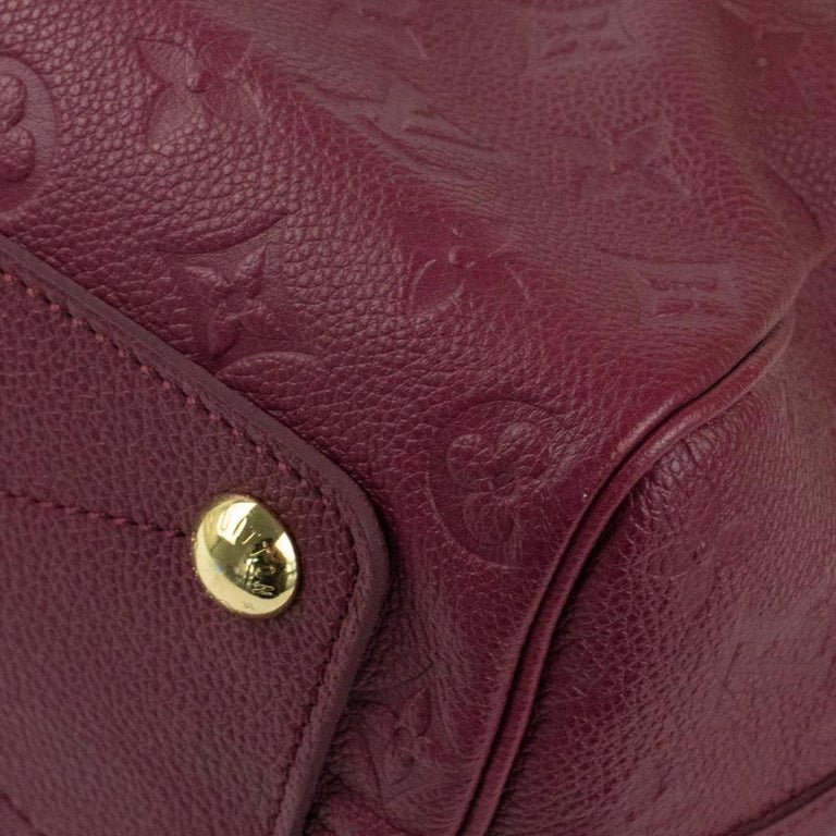 Louis Vuitton, Speedy 25 in burgundy leather For Sale 6