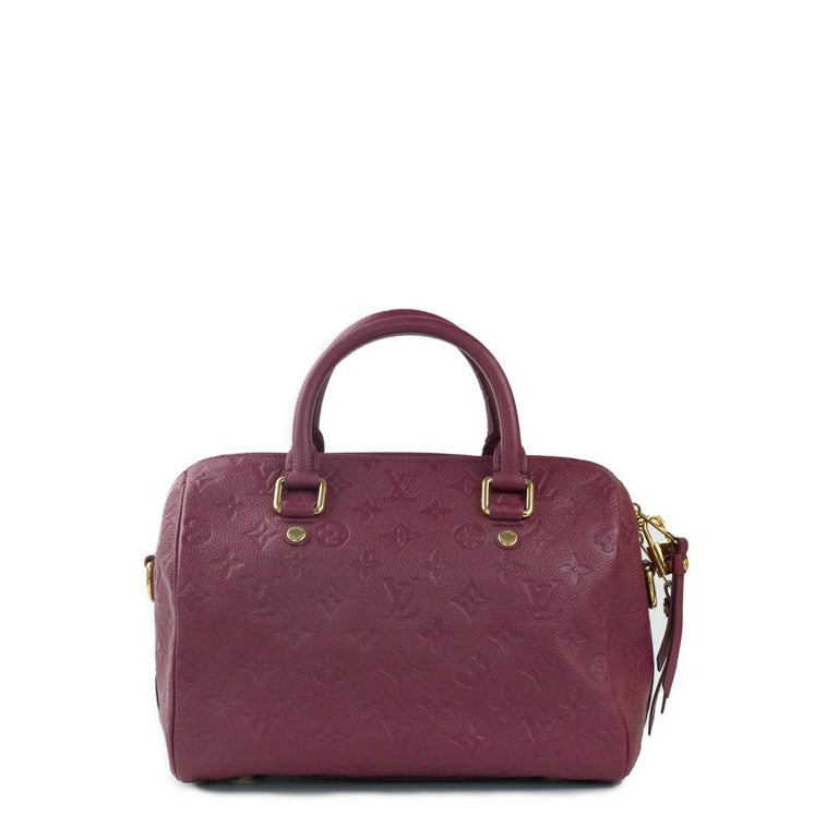 Brown Louis Vuitton, Speedy 25 in burgundy leather For Sale