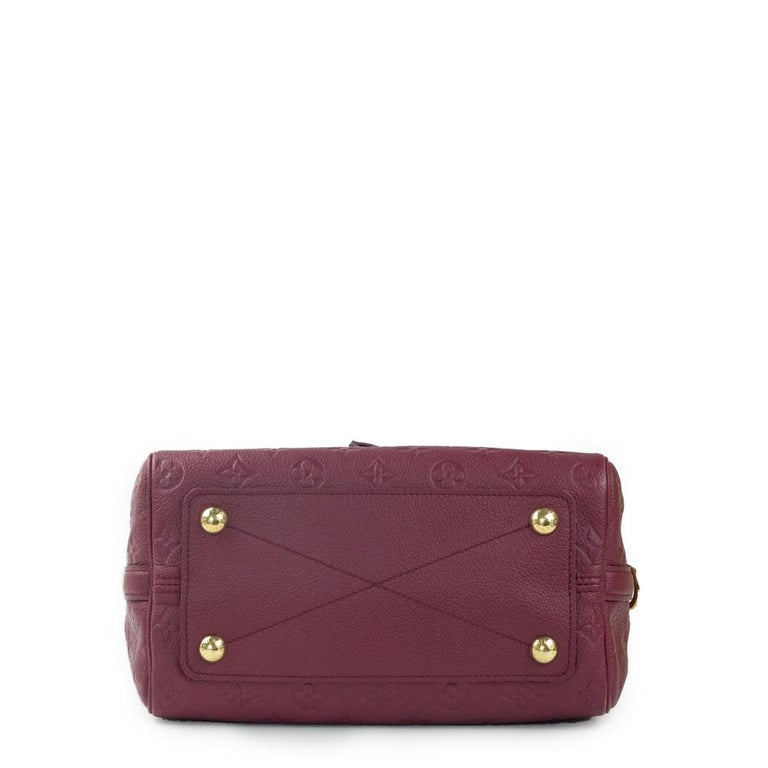 Louis Vuitton, Speedy 25 in burgundy leather In Good Condition For Sale In Clichy, FR
