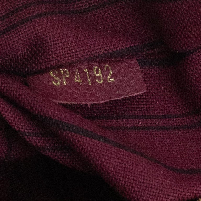Louis Vuitton, Speedy 25 in burgundy leather For Sale 2