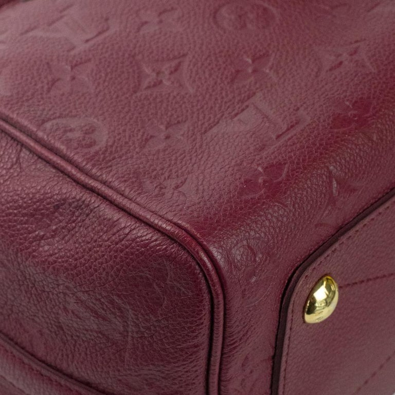 Louis Vuitton, Speedy 25 in burgundy leather For Sale 3