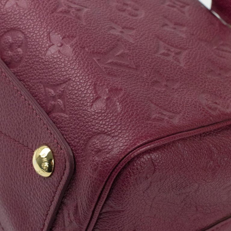 Louis Vuitton, Speedy 25 in burgundy leather For Sale 4