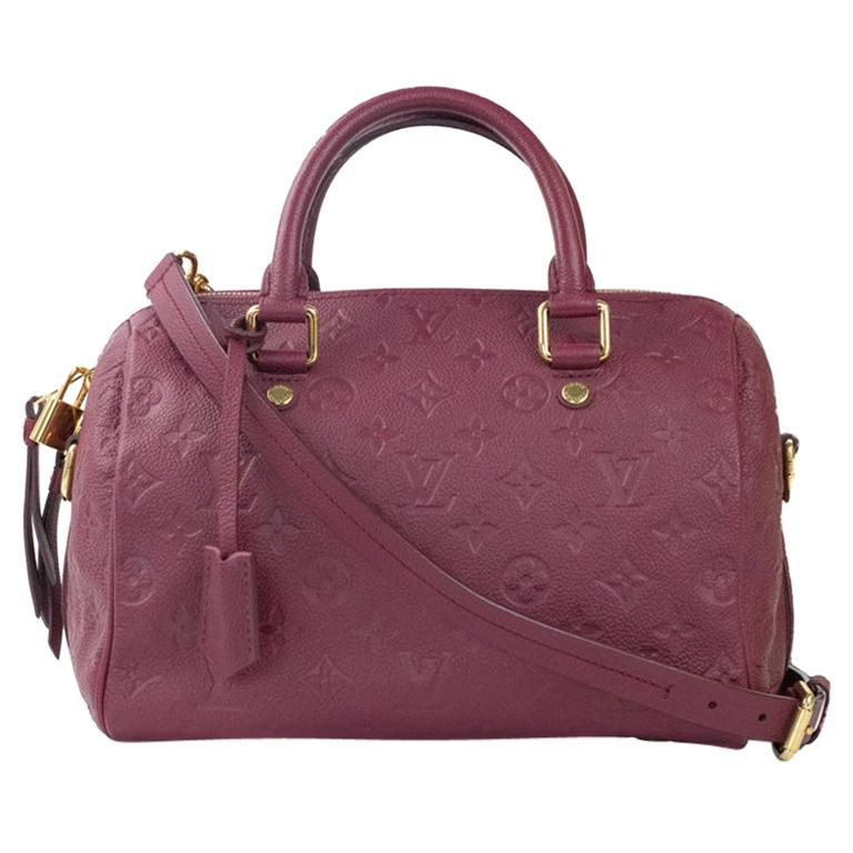 Louis Vuitton, Speedy 25 in burgundy leather For Sale