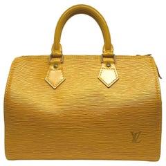 Louis Vuitton Speedy 25 Yellow EPI Leather Handbag, France 1995.