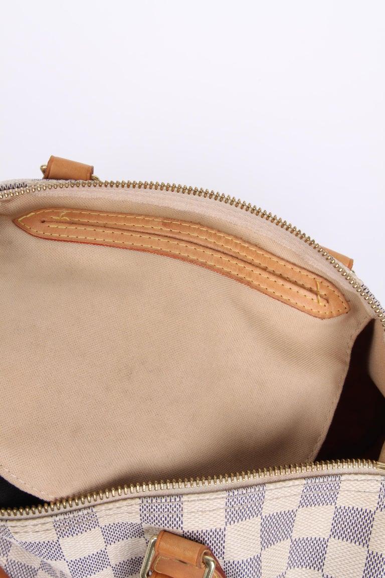 Louis Vuitton Speedy 30 Damier Azur Canvas Bag For Sale 6