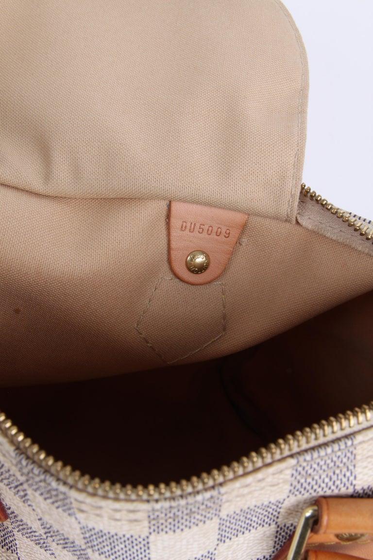 Louis Vuitton Speedy 30 Damier Azur Canvas Bag For Sale 7