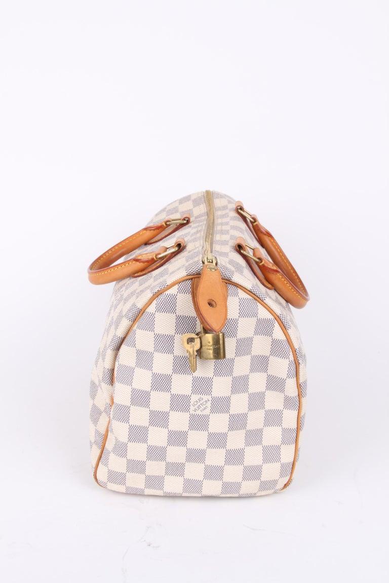 Louis Vuitton Speedy 30 Damier Azur Canvas Bag In Good Condition For Sale In Baarn, NL