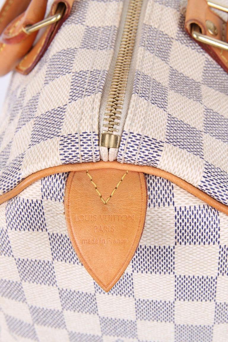 Louis Vuitton Speedy 30 Damier Azur Canvas Bag For Sale 1