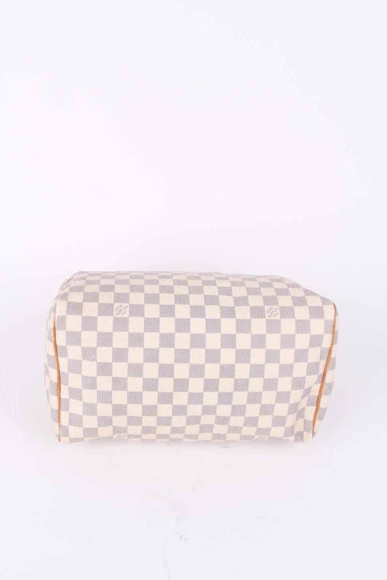Louis Vuitton Speedy 30 Damier Azur Canvas Bag For Sale 2
