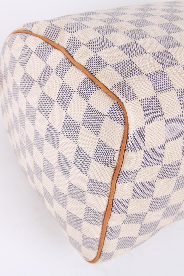 Louis Vuitton Speedy 30 Damier Azur Canvas Bag For Sale 3