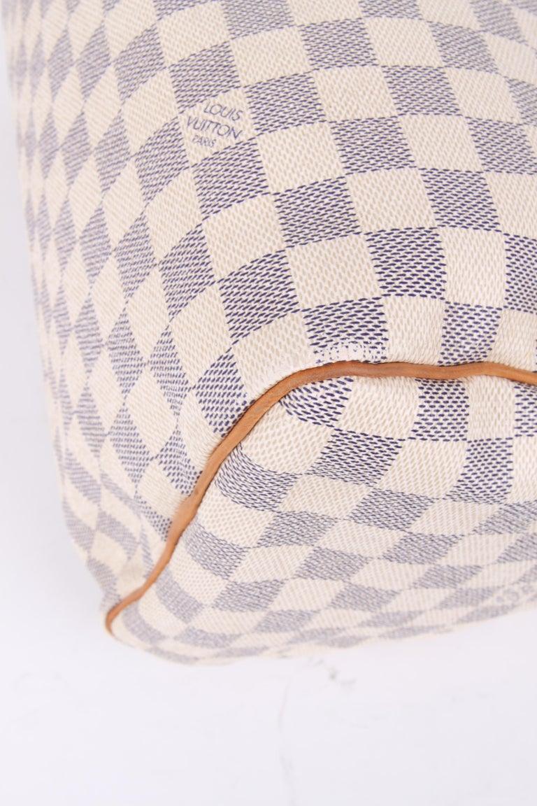 Louis Vuitton Speedy 30 Damier Azur Canvas Bag For Sale 4