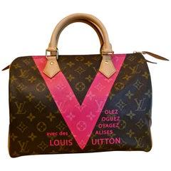 Louis Vuitton Speedy 30 Limited Edition Grenade V Monogram Handbag.