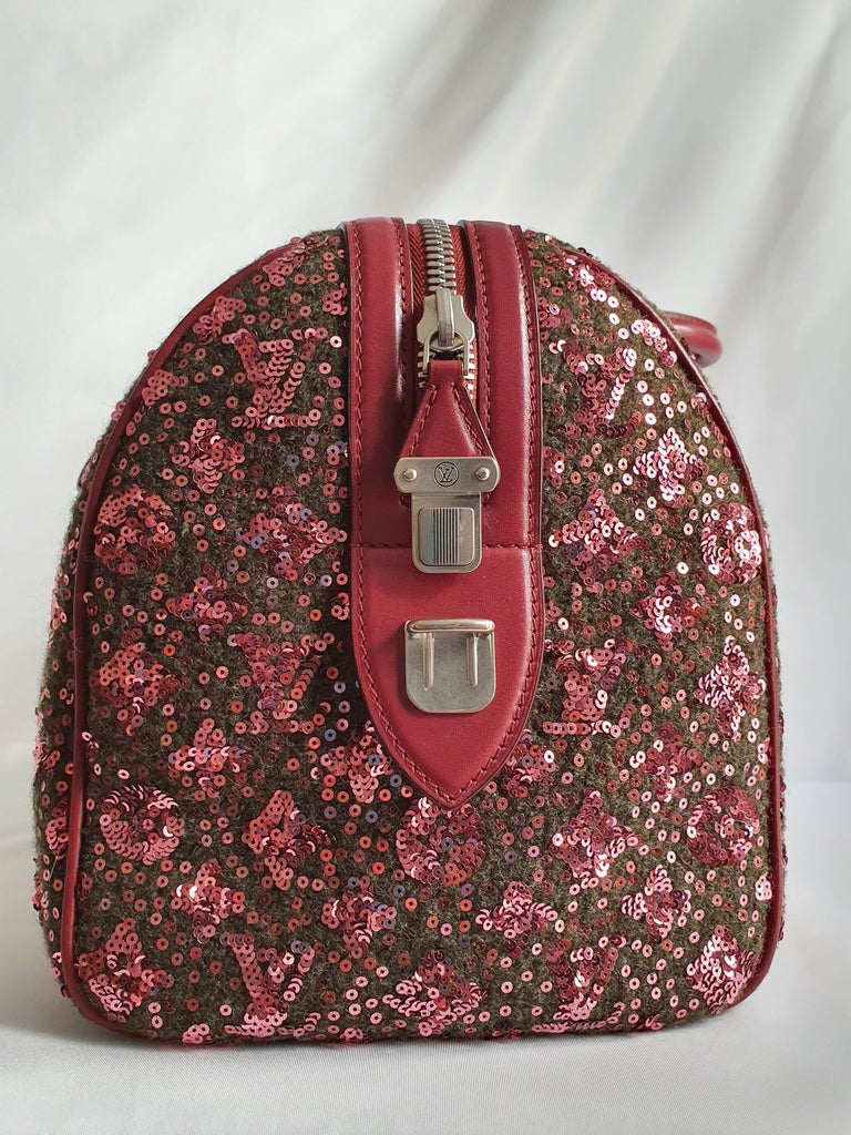 - Designer: LOUIS VUITTON - Model: Speedy 30 Limited edition - Condition: Very good condition. Sign of wear on Leather - Accessories: None - Measurements: Width: 31cm, Height: 23cm , Depth: 19cm  - Exterior Material: Cloth - Exterior Color: