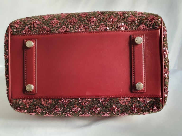 Louis Vuitton, Speedy 30 Limited edition in burgundy cloth In Good Condition For Sale In Clichy, FR