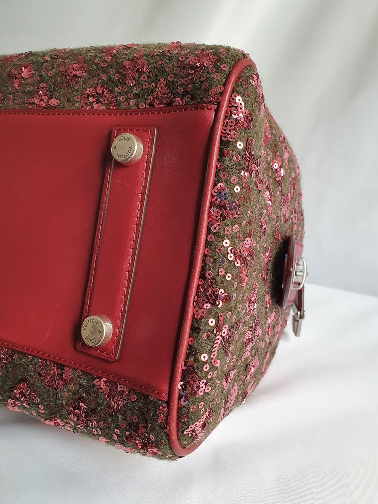 Louis Vuitton, Speedy 30 Limited edition in burgundy cloth For Sale 4