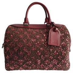 Louis Vuitton, Speedy 30 Limited edition in burgundy cloth