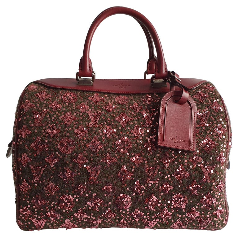 Louis Vuitton, Speedy 30 Limited edition in burgundy cloth For Sale