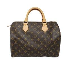 Louis Vuitton Speedy 30 Monogram Canvas Handbag with dust bag in Box