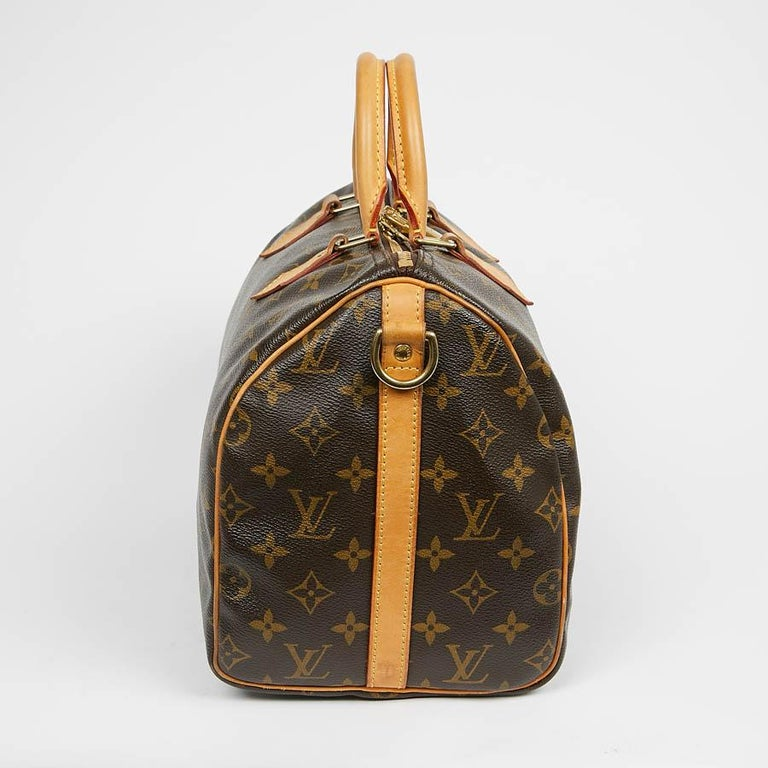 Black Louis Vuitton Speedy 30 Shoulder Bag Monogram Canvas For Sale