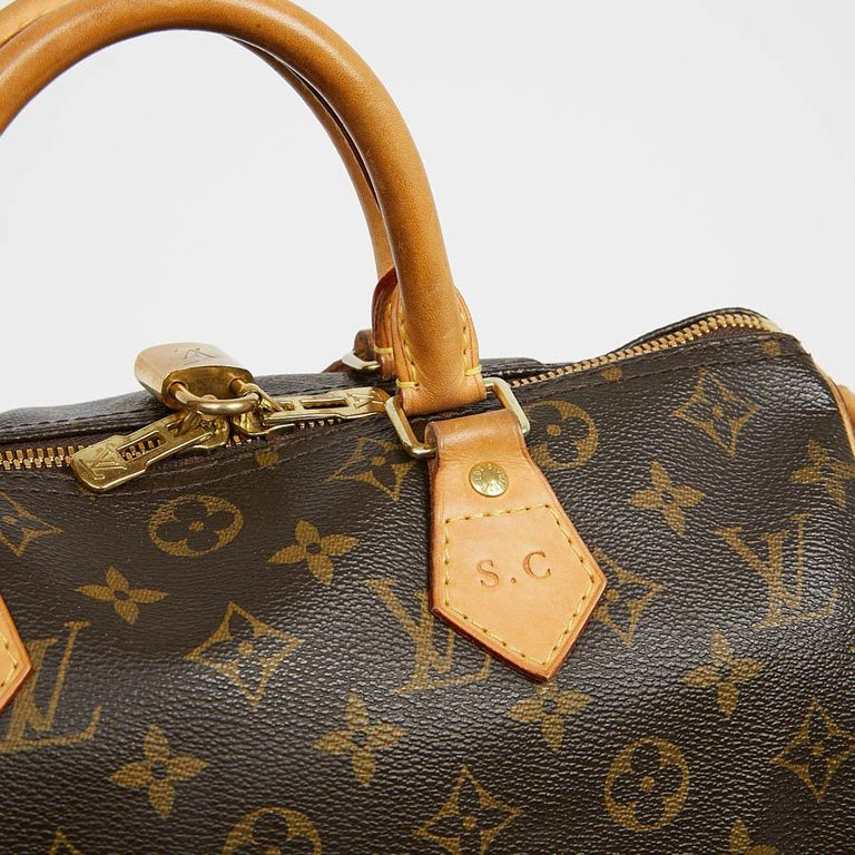 Louis Vuitton Speedy 30 Shoulder Bag Monogram Canvas For Sale 3
