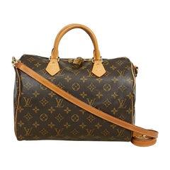 Louis Vuitton Speedy 30 Shoulder Bag Monogram Canvas