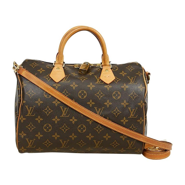 Louis Vuitton Speedy 30 Shoulder Bag Monogram Canvas For Sale