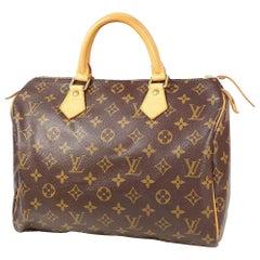 LOUIS VUITTON Speedy 30 Womens Boston bag M41108 brown