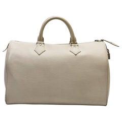 Louis Vuitton Speedy 35 Ecru Epi Leather Bag