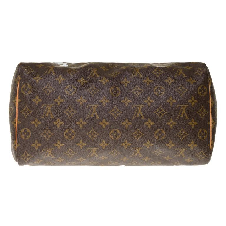 Louis Vuitton Speedy 35 handbag in Monogram canvas customized