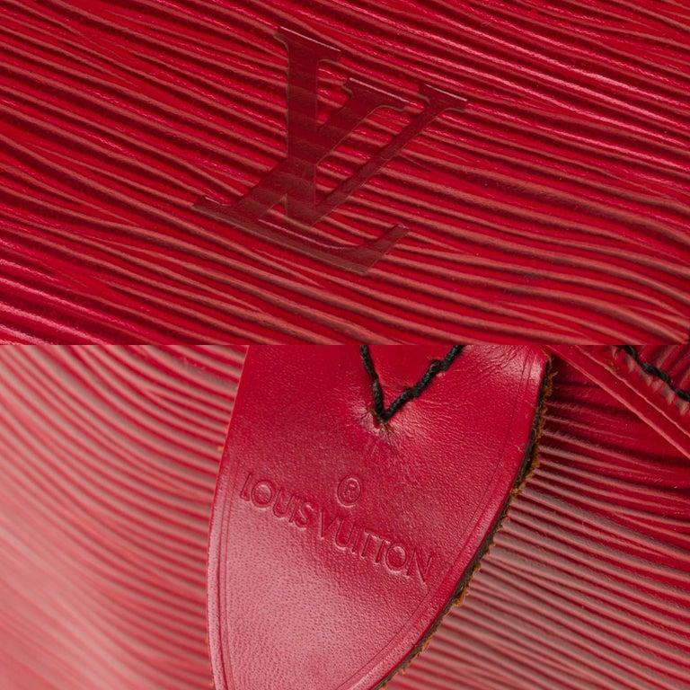 Women's Louis Vuitton Speedy 35 handbag in red épi leather For Sale