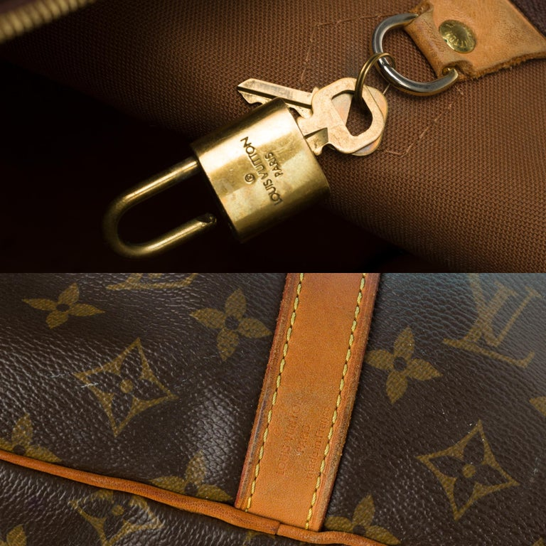 Louis Vuitton Speedy 40 with strap in Monogram canvas customized