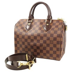 LOUIS VUITTON Speedy bandouliere 25 Womens Boston bag N41368 Damier ebene