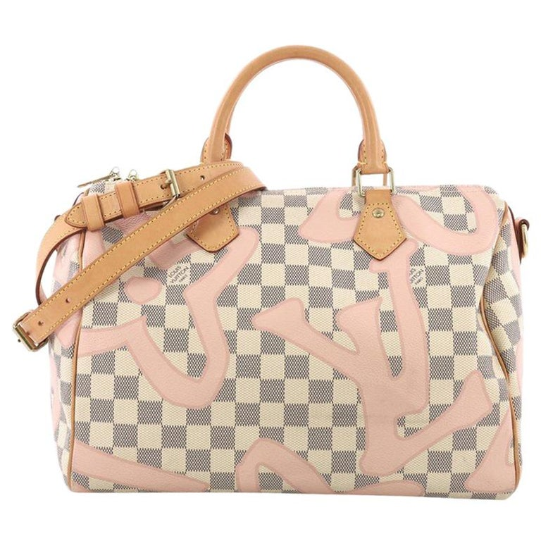 dee9c3b37e28 Louis Vuitton Speedy Bandouliere Bag Limited Edition Damier Tahitienne 30  For Sale