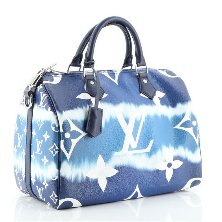 Louis Vuitton Speedy Bandouliere Bag Limited Edition Escale Monogram Gian In Good Condition For Sale In New York, NY