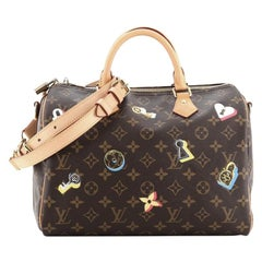 Louis Vuitton Speedy Bandouliere Bag Limited Edition Love Lock Monogram Canvas