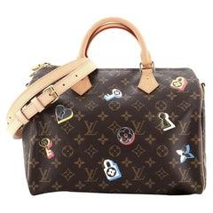Louis Vuitton Speedy Bandouliere Bag Limited Edition Love Lock Monogram Canvas30