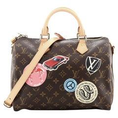 Louis Vuitton Speedy Bandouliere Bag Limited Edition World Tour Monogram