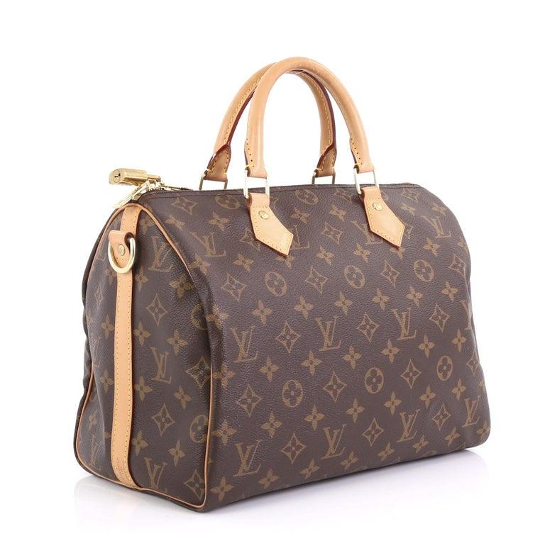 Black Louis Vuitton Speedy Bandouliere Bag Monogram Canvas 30