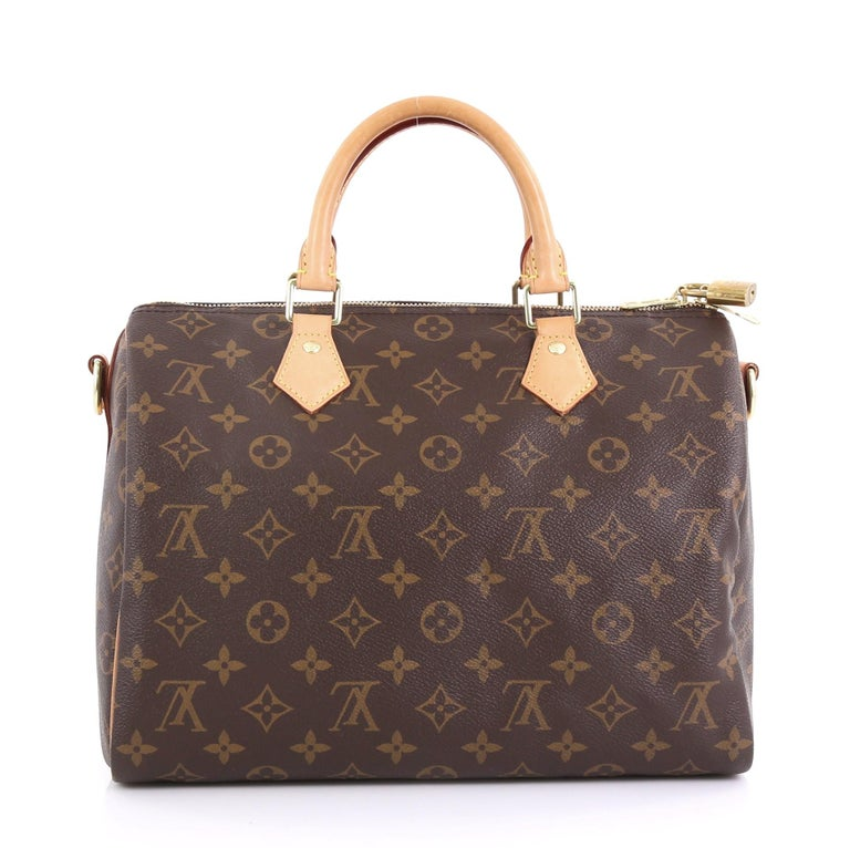 Louis Vuitton Speedy Bandouliere Bag Monogram Canvas 30 In Good Condition In New York, NY