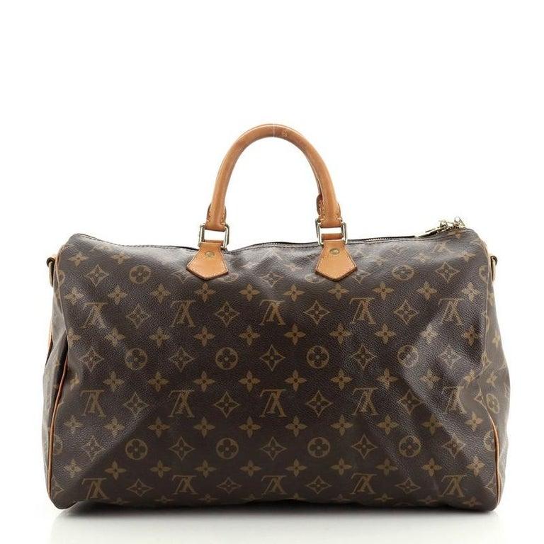 Black Louis Vuitton Speedy Bandouliere Bag Monogram Canvas 40 For Sale
