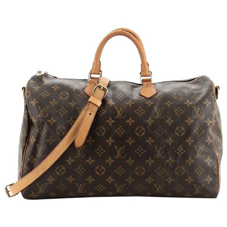 Louis Vuitton Speedy Bandouliere Bag Monogram Canvas 40 For Sale