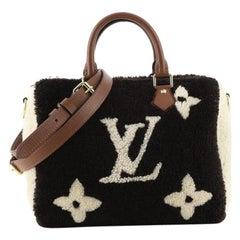 Louis Vuitton Speedy Bandouliere Bag Monogram Giant Teddy Fleece 25