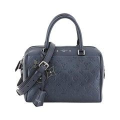 Louis Vuitton Speedy Bandouliere NM Handbag Pins Monogram Empreinte Leather 25