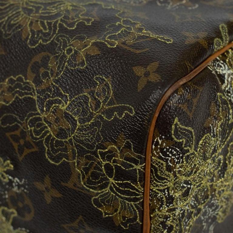 LOUIS VUITTON Speedy Edition Limitee Handbag in Brown Canvas For Sale 6