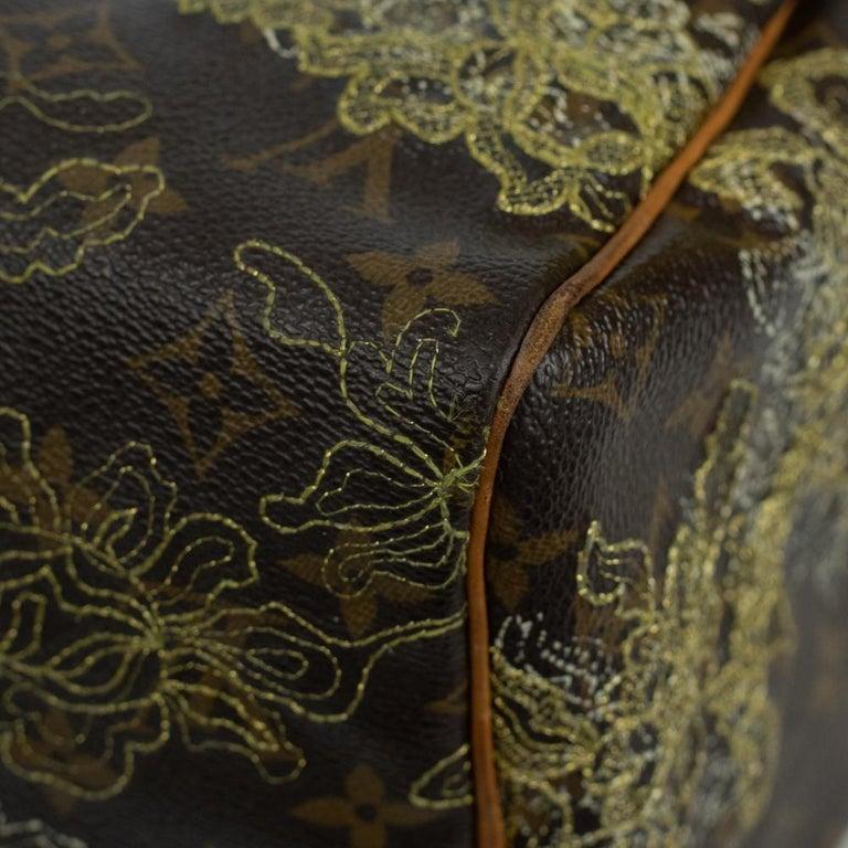 LOUIS VUITTON Speedy Edition Limitee Handbag in Brown Canvas For Sale 8