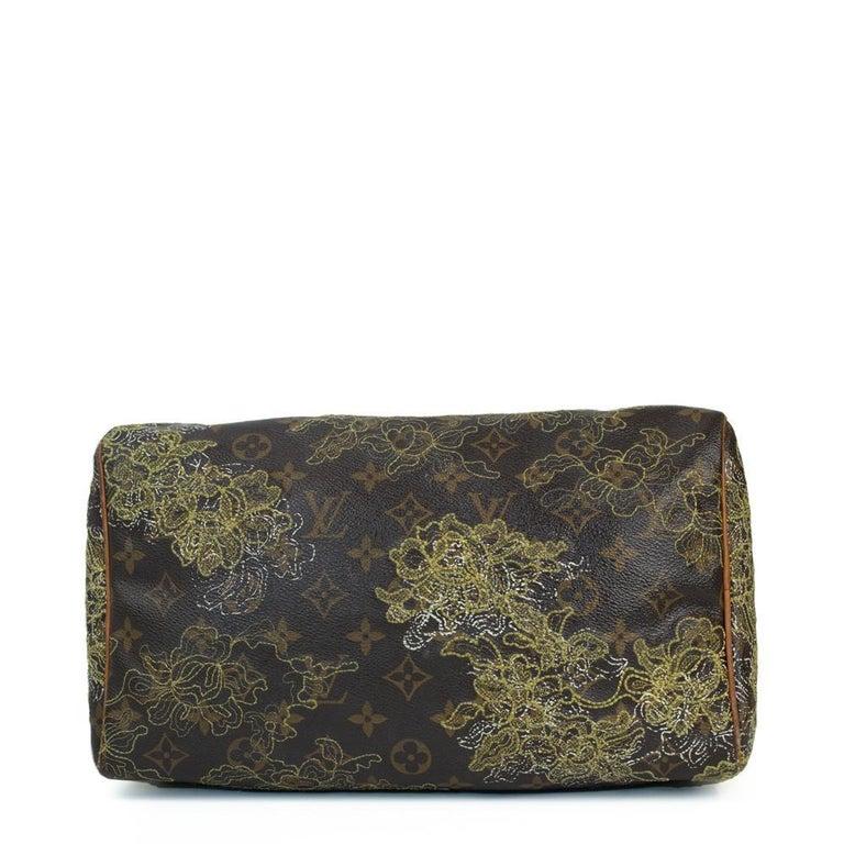 LOUIS VUITTON Speedy Edition Limitee Handbag in Brown Canvas In Good Condition For Sale In Clichy, FR