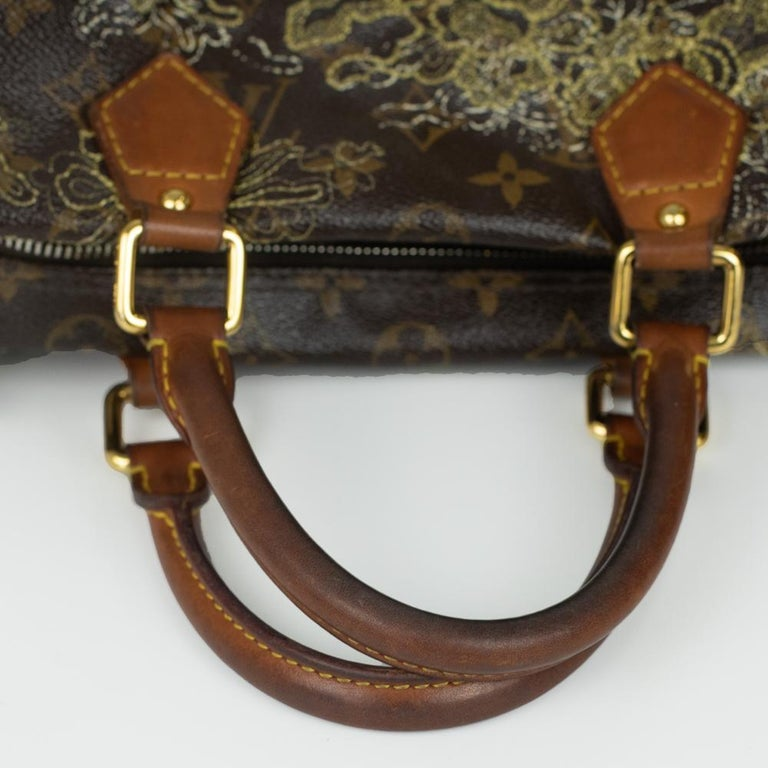 LOUIS VUITTON Speedy Edition Limitee Handbag in Brown Canvas For Sale 3