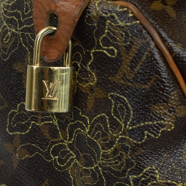 LOUIS VUITTON Speedy Edition Limitee Handbag in Brown Canvas For Sale 4