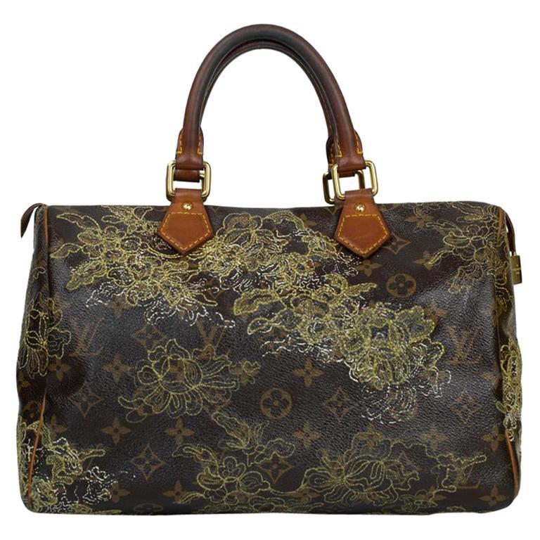 LOUIS VUITTON Speedy Edition Limitee Handbag in Brown Canvas For Sale